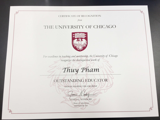 Quarry Lane Teacher Receives University of Chicago Outstanding Educator Award