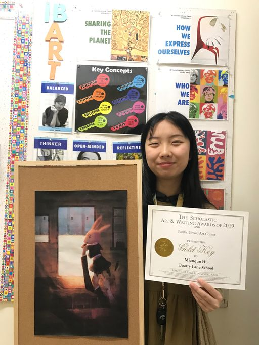Quarry Lane Student Receives Scholastic Art Honor