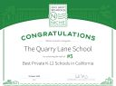 Quarry Lane School Ranked #5 Best Private K-12 School in California for 2021